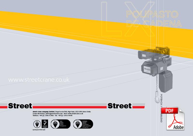 polipastos eléctricos de cadena lx de street